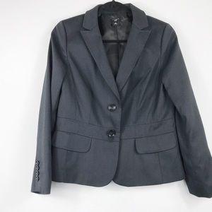 Ann Taylor Petite Gray 2 Button Blazer - Size 12P